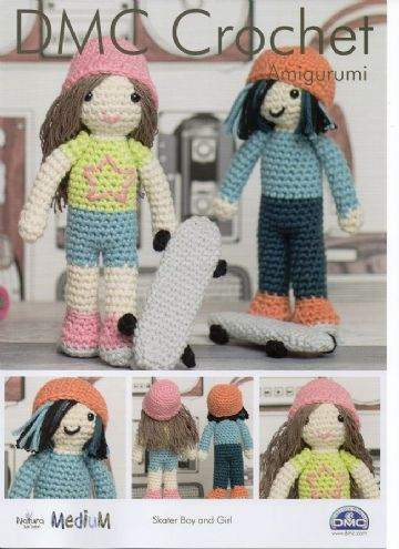 DMC Skater Boy and Girl Toys Amigurumi Crochet Pattern